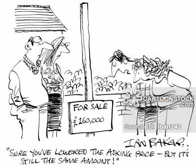 'Sure you've lowered the asking price - But it's still the same amount!'